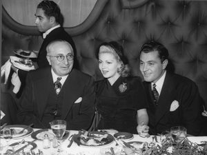Louis B. Mayer with Lana Turner and Tony Martincirca 1941 - Image 5451_0064