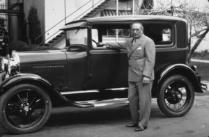 Louis B. Mayer with his 1926 Packard, C. 1926.*M.W.* - Image 5451_62