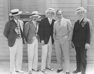 Warner HistoryWilliam Koenig, Darryl Zanuck, Jack Warner, Al Jolson, Albert Warner1928 - Image 5460_0002