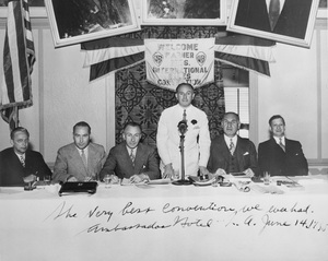 Warner HistoryHall Wallis, Harry Warner, Jack Warner, Albert Warner, William Koenigat Ambassador HotelJune 14, 1935 - Image 5460_0064
