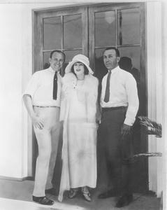 """Warner HistoryJack Warner, Lenore Ulric, Harry Warnerduring filming of """"Tiger Rose""""1923 - Image 5460_0089"""