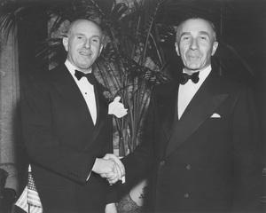Warner HistoryJack Warner, Harry Warnerat Academy Awards Dinnercirca 1948Photo by Schuyler Crail - Image 5460_0166