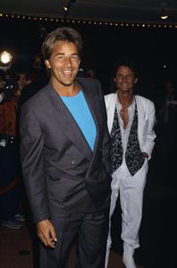 Don Johnson and Michael De Bargecirca 1980s© 1980 Gary Lewis - Image 5489_0005