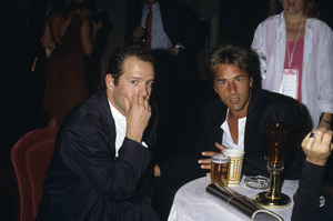 Don Johnson and Bruce Williscirca 1980s© 1980 Gary Lewis - Image 5489_000