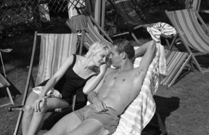 """Paul Newman and Joanne Woodward on location in Israel during the making of """"Exodus""""1960 United Artists © 1978 Leo Fuchs - Image 5505_0013"""