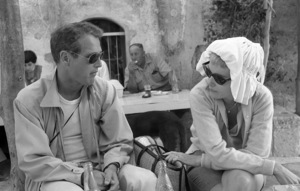 """Paul Newman and Joanne Woodward on location in Israel during the making of """"Exodus""""1960 United Artists © 1978 Leo Fuchs - Image 5505_0017"""