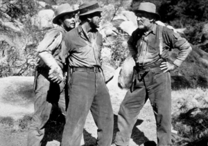 """The Treasure of the Sierra Madre""Tim Holt, Humphrey Bogart, and Walter Huston1948 Warner Bros.MPTV - Image 5610_0004"