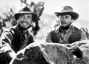 """The Treasure of the Sierra Madre""Humphrey Bogart and Tim Holt1948 Warner Bros.MPTV - Image 5610_0037"