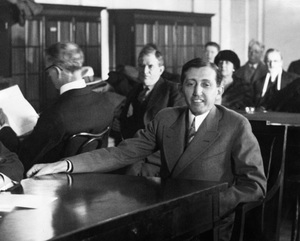 Will Hays giving testimony at the Senate committee, 1928, I.V. - Image 5611_0002