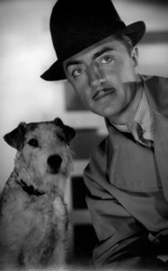"William Powell with dog, Asta, from ""The Thin Man"" 1934 © 1978 Ted Allan"