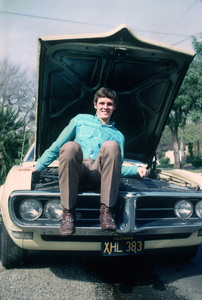 Jay North with his 1967 Pontiac Firebird 1970 Photo By Herm Lewis - Image 5630_0005