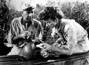 """The African Queen""Humphrey Bogart and Katharine Hepburn1951 UAMPTV - Image 5636_0009"