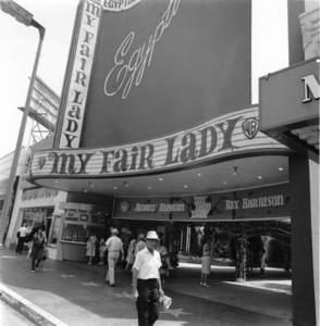 """Hollywood and Los Angeles Landmarks Egyptian Theater Marquee: """"My Fair Lady"""" 1964 © 1978 Sid Avery - Image 5648_0040"""