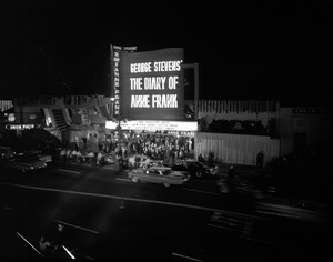 """Premiere of """"The Diary of Anne Frank""""1959 © 1978 Sid Avery - Image 5648_0103"""