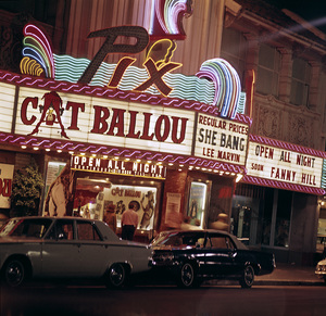 "Pix theater playing ""Cat Ballou""1965 © 1978 Sid Avery - Image 5648_0122"