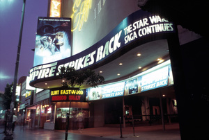 Theaters CategoryEmpire Strikes Back marquee on Hollywood Blvd.Hollywood California1980 © 1980 Ulvis Alberts - Image 5648_0153