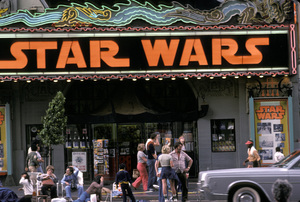 Theaters CategoryStar Wars marquee on Hollywood Blvd.Hollywood California1977 © 1978 Ulvis Alberts - Image 5648_0154