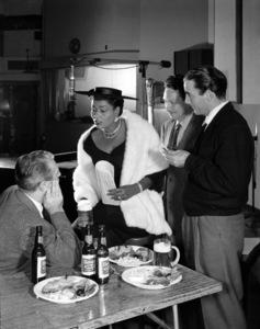 Pearl Bailey in a Rheingold Beer advertisementcirca 1950s© 1978 Paul Hesse - Image 5655_0001