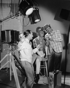 """Amos 'N Andy"" Freeman Fisher Gosden, Charles J. Correll with photographer Paul Hesse 1950 © 1978 Paul Hesse - Image 5668_0003"