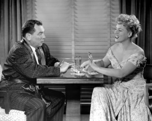 """John Alexander and Judy Holliday in """"Born Yesterday"""" (stage version)1949 ** I. V. / M.T. - Image 5673_0035"""