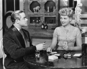 """Sam Sweet and Judy Holliday in """"Born Yesterday"""" (stage version)1947 Photo by Vandamm** I.V. / M.T. - Image 5673_0036"""