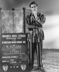 """Streetcar Named Desire""Marlon Brando during a wardrobe test8-9-1950 Warner Brothers**I.V. - Image 5691_0022"