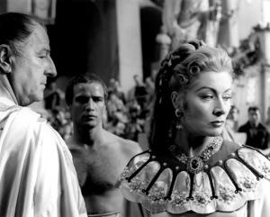 "Louis Calhern, Marlon Brando, Greer GarsonFilm Set""Julius Caesar"" (1952)Copyright John Swope Trust / MPTV - Image 5692_0030"