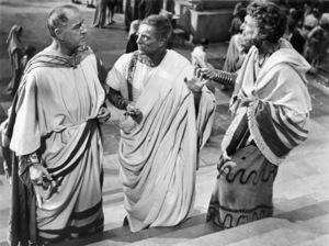 "Louis Calhern,  John Hoyt and Morgan Farley in ""Julius Caesar""1953 MGM** I.V. - Image 5692_0061"
