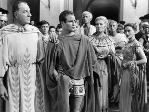 "Louis Calhern, Marlon Brando, Greer Garson and Deborah Kerr in ""Julius Caesar""1953 MGM** I.V. - Image 5692_0064"