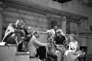 Louis Calhern, James Mason, Greer Garson, John Gielgud, director Joseph L. Mankiewicz, Marlon Brando, Edmond O