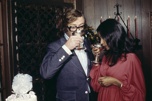 Michael Caine and his wife Shakira on their wedding day 1973 © 1978 Gene Trindl - Image 5705_0138