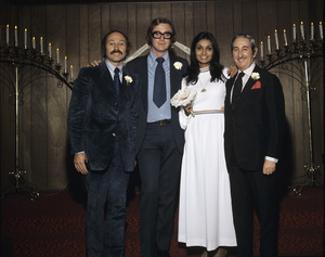 Michael Caine and his wife Shakira on their wedding day 1973 © 1978 Gene Trindl - Image 5705_0145