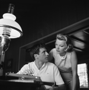 John Cassavetes and wife Gena Rowlands at homecirca 1960s© 1978 Gunther - Image 5706_0014