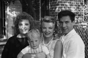 John Cassavetes and Gena Rowlands at home with their son Nick and Gena