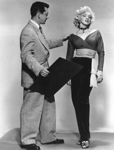 """Gentlemen Prefer Blondes""Marilyn Monroe with Travilla (Costume Designer) © 1953 / 20th Century Fox**R.C. - Image 5709_0032"