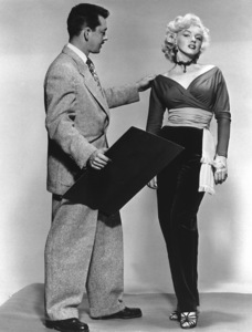 """Gentlemen Prefer Blondes""Marilyn Monroe with Travilla (Costume Designer) © 1953 / 20th Century Fox**R.C. - Image 5709_0032"
