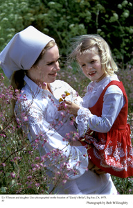 "Liv Ullmann and daughter Linn onLocation in Big Sur ""Zandy"