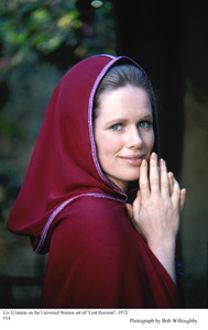 """Liv Ullmann on the set of """"Lost Horizon"""" 1972 Columbia © 1978 Bob Willoughby - Image 5719_0757"""