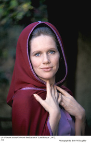 """Liv Ullmann on the set of """"Lost Horizon"""" 1972 Columbia © 1978 Bob Willoughby - Image 5719_0758"""