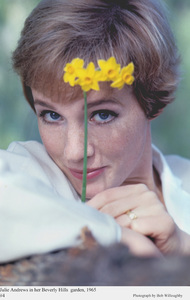 Julie Andrews in her Beverly Hills garden, 1965.Photographed used on
