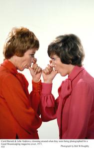 Carol Burnett and Julie Andrews,photographed for a
