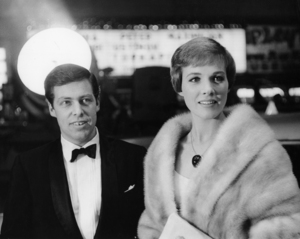 "Tony Walton and Julie Andrews at the New York premiere of ""The Americanization of Emily""1964** I.V. - Image 5722_0200"