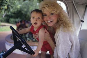 Loni Anderson and son Quinton1988© 1988 Mario Casilli - Image 5727_0060