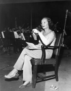 Tallulah Bankhead at NBC radio studio stageC. 1950