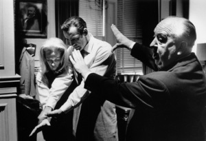 """""""Marnie""""Sean Connery, Tippi Hedren and director Alfred Hitchcock1964 © 1978 Bob Willoughby - Image 5733_0047"""