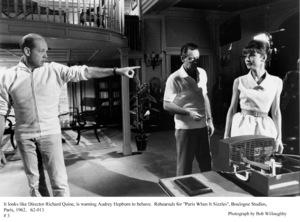 """Paris When It Sizzles""Dir. Richard Quine, William Holden, Audrey Hepburn1962 / Paramount © 1978 Bob Willoughby - Image 5734_0072"