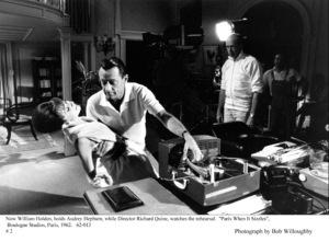 """Paris When It Sizzles""Audrey Hepburn, William Holden, Dir. Richard Quine.1962 / Paramount © 1978 Bob Willoughby - Image 5734_0073"
