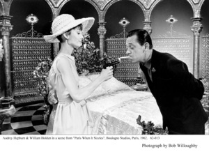 """Paris When It Sizzles""Audrey Hepburn, William Holden1962 / Paramount © 1978 Bob Willoughby - Image 5734_0118"