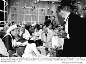 """Paris When It Sizzles""William Holden, Audrey Hepburn, George Axelrod, Capucine, Mel Ferrer.  1962 / Paramount. © 1978 Bob Willoughby - Image 5734_0146"