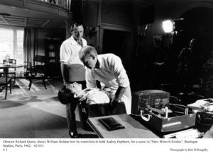 """Paris When It Sizzles""Audrey Hepburn, Dir. Richard Quine, William Holden1962 / Paramount © 1978 Bob Willoughby - Image 5734_0155"